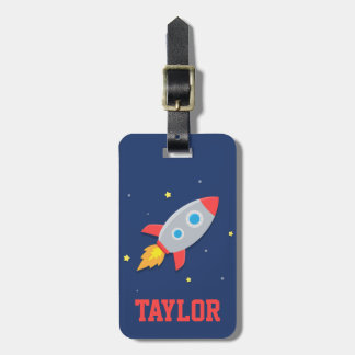 Nave colorida de Rocket, espacio exterior, para lo Etiquetas Maleta