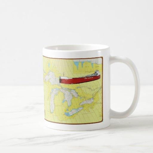 Nave CSL Niagra de Great Lakes en una taza y una c