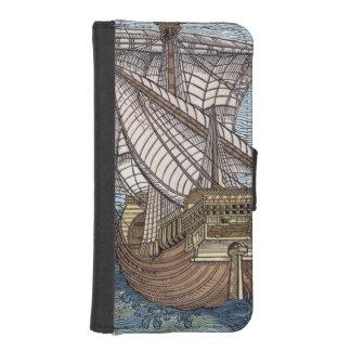Nave de Columbus'Time Funda Tipo Billetera Para iPhone 5