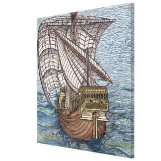 Nave de Columbus'Time Lona Estirada Galerías