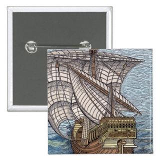 Nave de Columbus'Time Pin Cuadrada 5 Cm