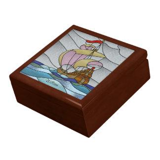 Nave de Deco en el mar Cajas De Joyas