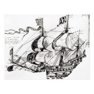 Nave de Jacques Cartier, 'Rarete Indes Postales