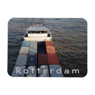 Nave de la carga en la Mosa, Rotterdam Imanes De Vinilo