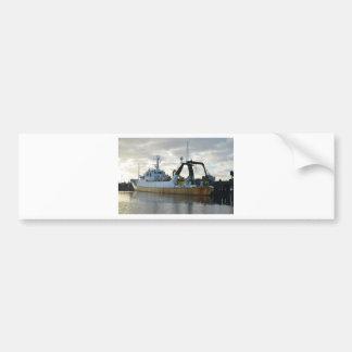 Nave de la exploración en el amanecer etiqueta de parachoque