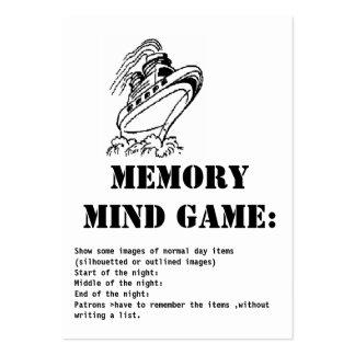 nave de la juego-Travesía de la mente de la Tarjetas De Visita Grandes