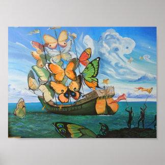 Nave de la mariposa póster