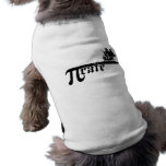 Nave de la tarifa del pi camiseta de perro