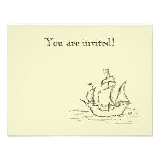 Nave de pirata invitaciones personales
