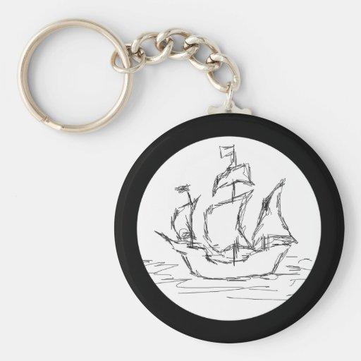 Nave de pirata llavero personalizado