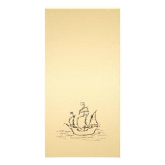 Nave de pirata tarjetas fotograficas personalizadas
