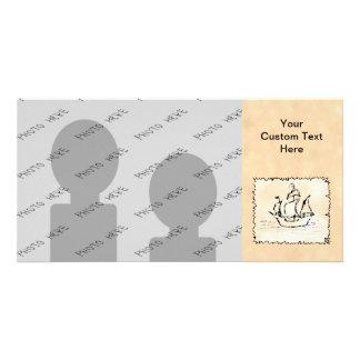 Nave de pirata tarjetas con fotos personalizadas