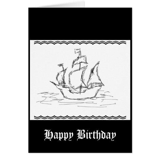Nave de pirata tarjeta de felicitación