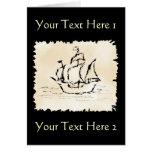 Nave de pirata tarjetas