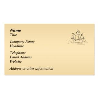 Nave de pirata tarjetas de visita