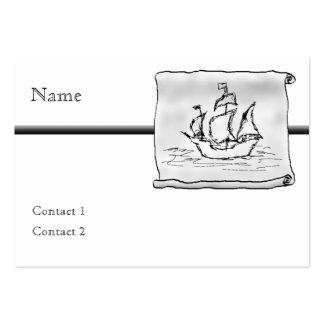 Nave de pirata tarjetas de visita grandes
