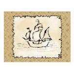 Nave de pirata tarjetas postales