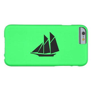 Nave de podadoras de Glow_Black-on-Green del Funda De iPhone 6 Barely There