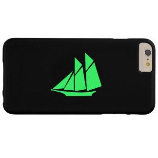 Nave de podadoras de Glow_Green-on-Black_classic Funda De iPhone 6 Plus Barely There