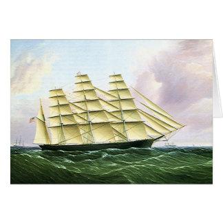 Nave de podadoras de la antigüedad del transporte tarjeta pequeña
