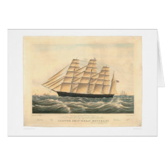 "Nave de podadoras ""gran república"" (0398A) Tarjeta De Felicitación"