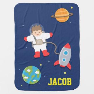 Nave de Rocket, astronauta, espacio exterior, para Manta De Bebé