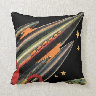 Nave de Rocket de la ciencia ficción del vintage Almohadas