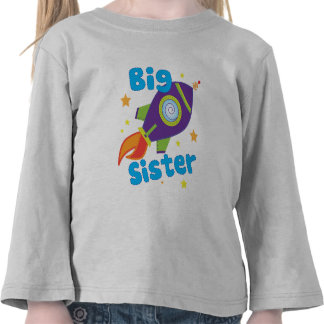 Nave de Rocket de la hermana grande Camisetas