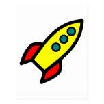 Nave de Rocket del dibujo animado Tarjetas Postales