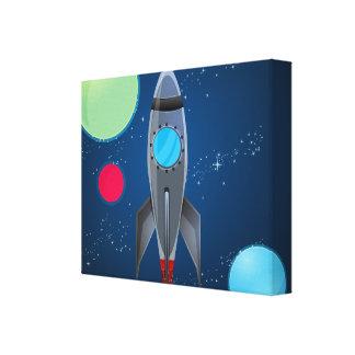 Nave de Rocket del espacio exterior Impresiones En Lona Estiradas