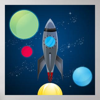 Nave de Rocket del espacio exterior Impresiones