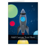 Nave de Rocket del espacio exterior Tarjeton