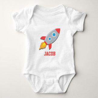 Nave de Rocket, espacio exterior, para los bebés Mameluco De Bebé