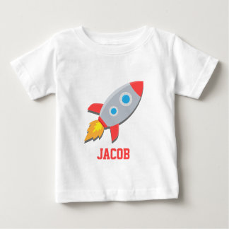 Nave de Rocket, espacio exterior, para los bebés Playera