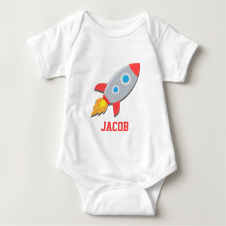 Nave de Rocket, espacio exterior, para los bebés Playeras