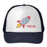 Nave de Rocket, espacio exterior, para los muchach Gorros Bordados
