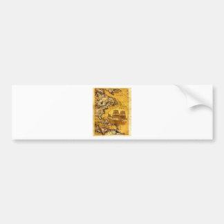 Nave de tesoro etiqueta de parachoque