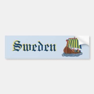 Nave de Viking del sueco Etiqueta De Parachoque