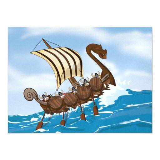 Nave de Viking Invitaciones Personales