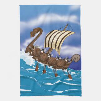 Nave de Viking Toalla De Mano
