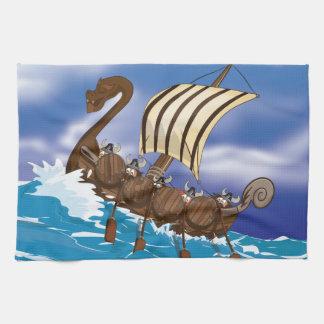 Nave de Viking Toallas De Cocina