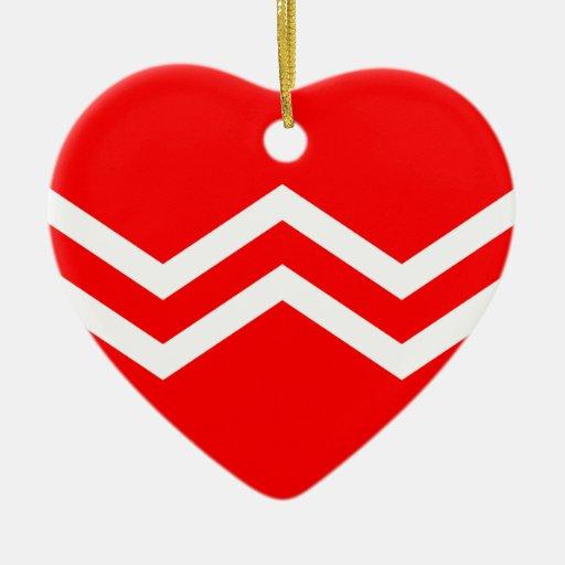 Nave del deber (marina de guerra japonesa adorno de cerámica en forma de corazón