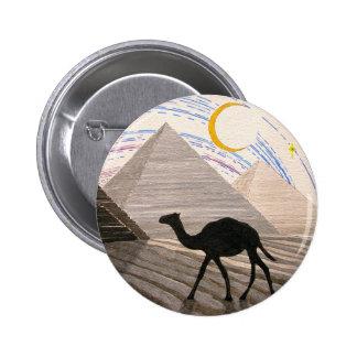 Nave del desierto pin redondo de 2 pulgadas