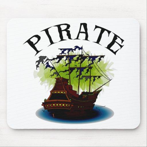 Nave del fantasma del pirata alfombrilla de raton