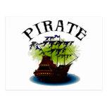 Nave del fantasma del pirata postal
