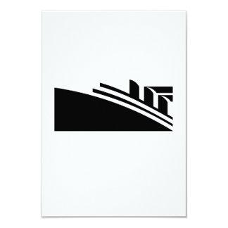 Nave del trazador de líneas de la travesía del invitación 8,9 x 12,7 cm