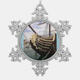 Nave del vintage - Alicante Adorno De Peltre En Forma De Copo De Nieve