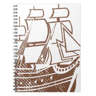Nave del vintage del Grunge Note Book