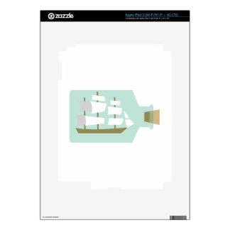 Nave en botella pegatina skin para iPad 3