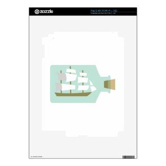 Nave en botella skin para el iPad 2